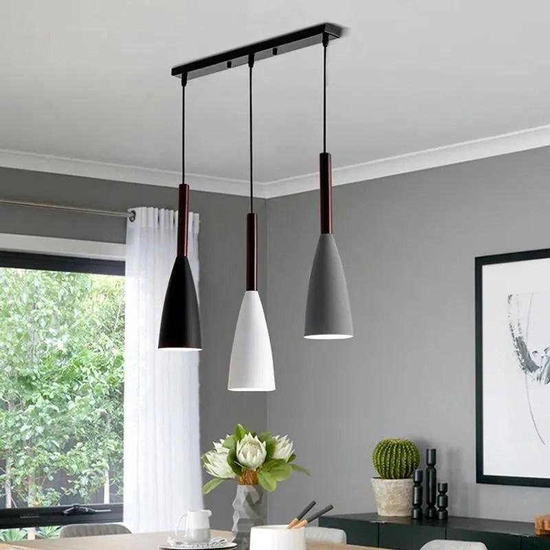 modern 3 pendant lighting nordic minimalist pendant lights over dining table kitchen island hanging lamps dining room lights e27 buy led dining room