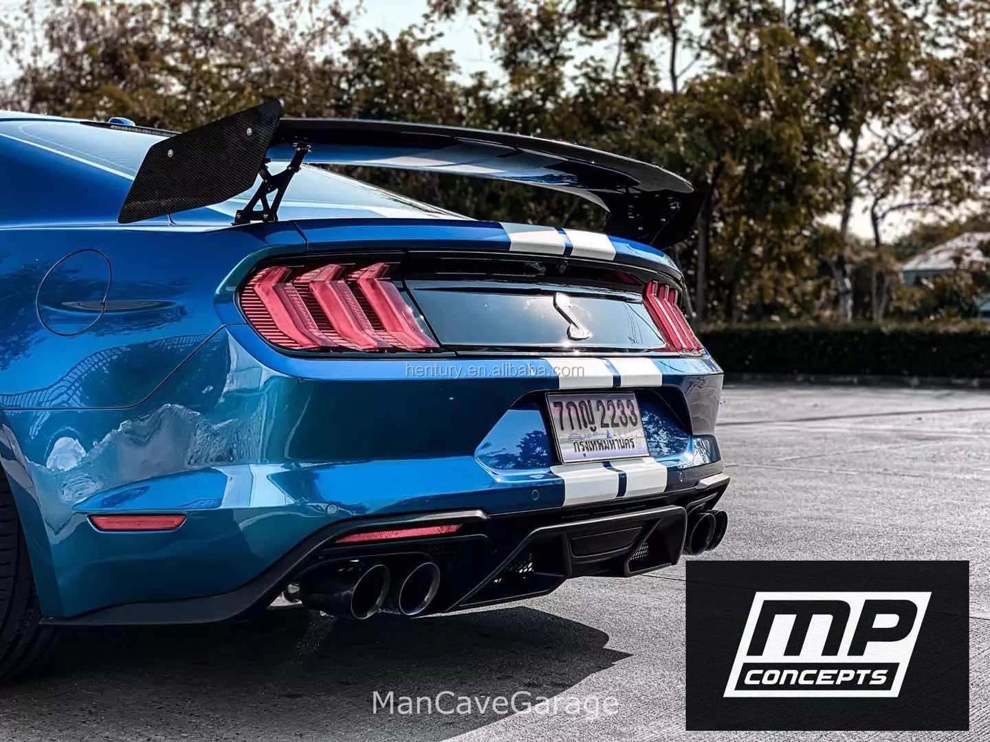 mp concepts quad exhaust gt500 rear diffuser with quad tips for mustang 18 19 mustang buy rear diffuser with quad tips product on alibaba com