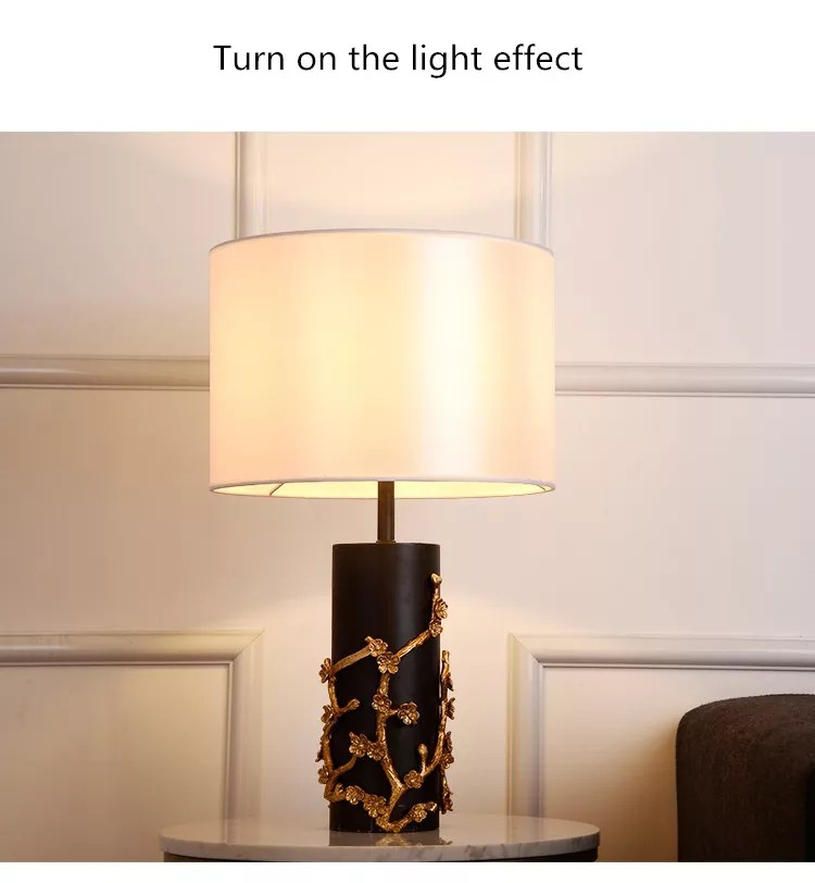 new product home goods table lamps jade base fabric lampshade e27 bulb table light buy home goods table lamps bedside table lamp e27 bulb table lamp