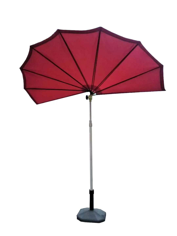 outdoor patio umbrella parasol balcony half round umbrella like fan can be fold new design buy half round balcony umbrella like fan half round