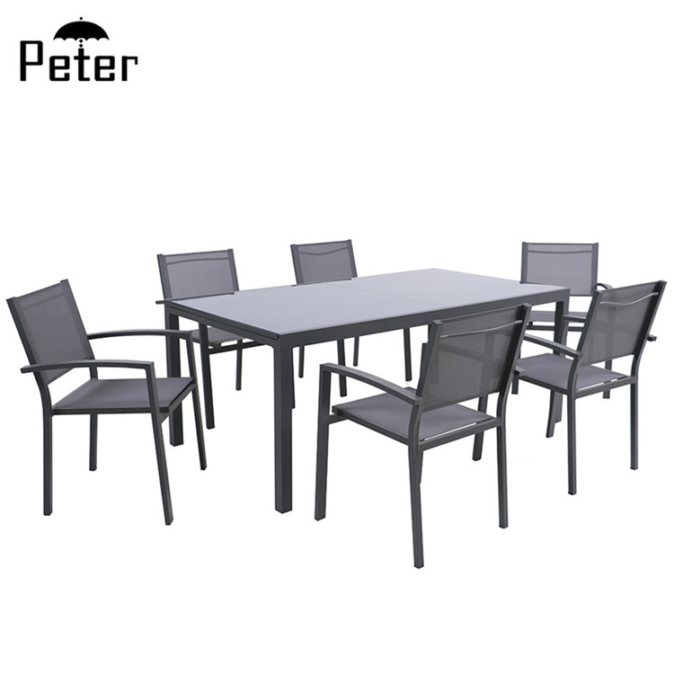 metal garden furniture extended table with 6 chairs patio furniture luxury hot sale aluminum extension dining set buy aluminum extension dining