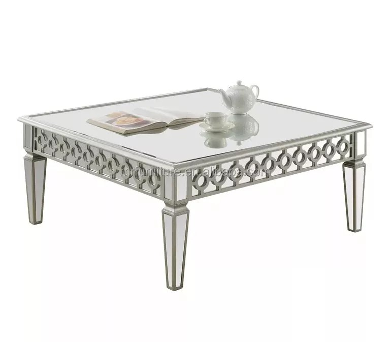 contemporary circles side design centre table silver mirrored coffee table for home hotel view modern silver mirrored coffee table for living room