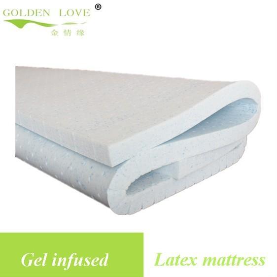 Gel Infused Latex Foam Mattress Topper Cool Summer Pad