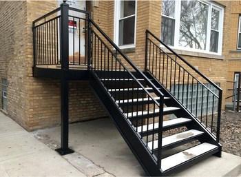 Indoor Stair Railing Iron Stair Balusters Custom Wrought Iron | Black Metal Stair Railing | Minimalist Simple Stair | Craftsman Style | Brushed Nickel | Rustic | Horizontal