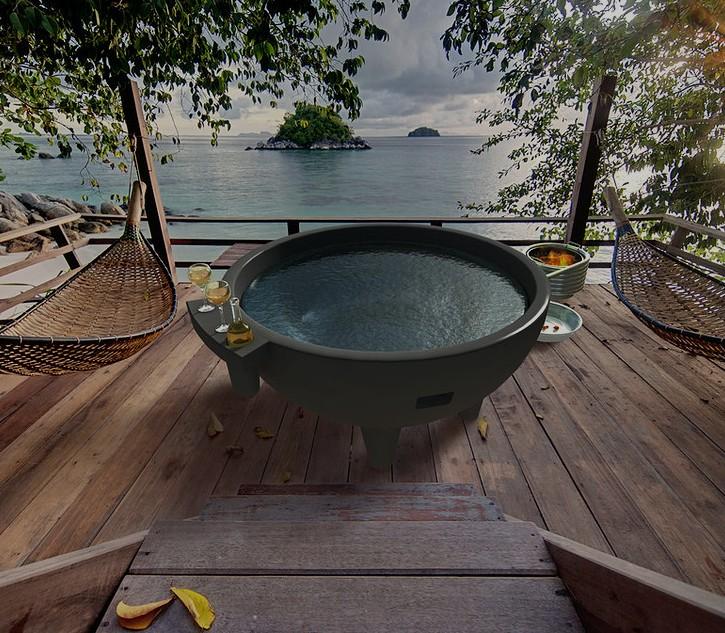 Garden Outdoor Round Spa Bathtub Dutch Hot Tub Outdoor