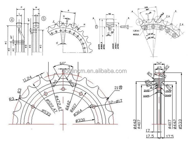 D4 Segment For Bulldozer Excavator Part Segment Group