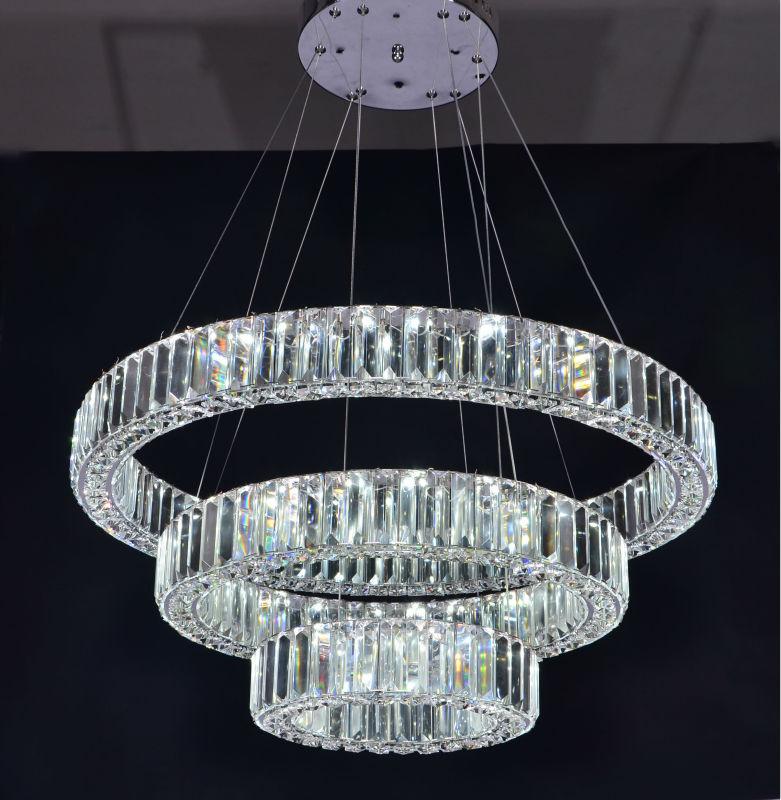 Three Rings Modern Luxury Crystal Chandelier Led Lighting Buy Led LightingChandelier Led