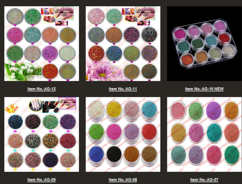 0 8 1mm Fashion Caviar Nail Art Set New 50 Colors Plastic Be Manicures Or Pedicures