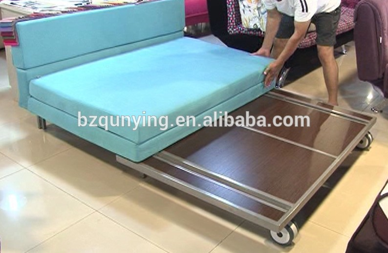 Simple Design High Quality Metal Rollaway Sofa Bed Frame With Wheels