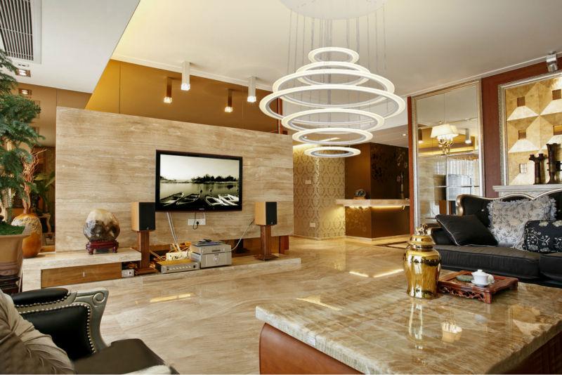 Circle Large Led Chandelier Light For Hotel Lobby Buy