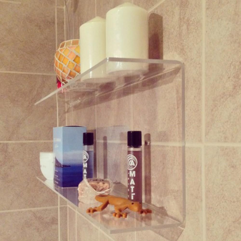 etagere d angle de douche en acrylique etagere en acrylique personnalisee pour la cuisine le salon et la salle de bain buy etagere d angle de douche
