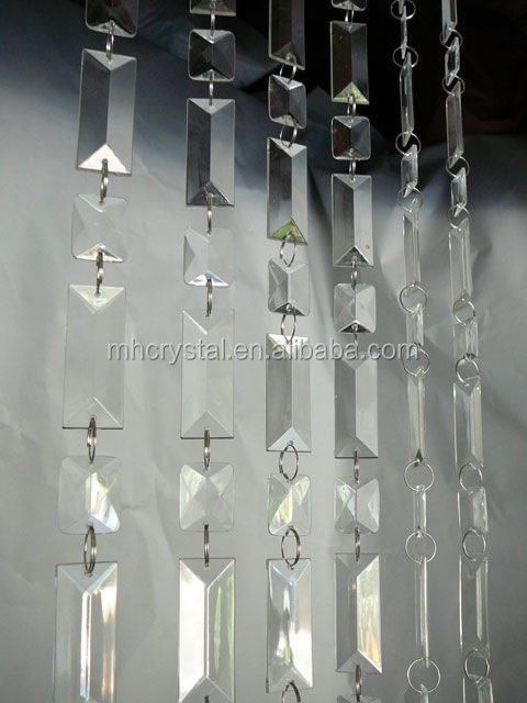 Glass Crystal For Chandelier Door Window Decor Bead Curtain Mh 12782