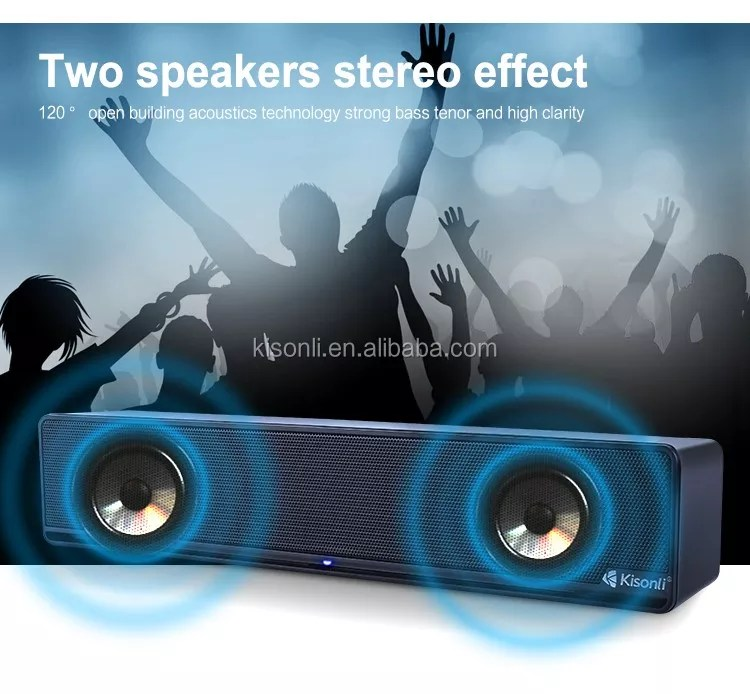 Stand Computer Subwoofer USB 2.0 6W Power Portable Speakers System Parlantes
