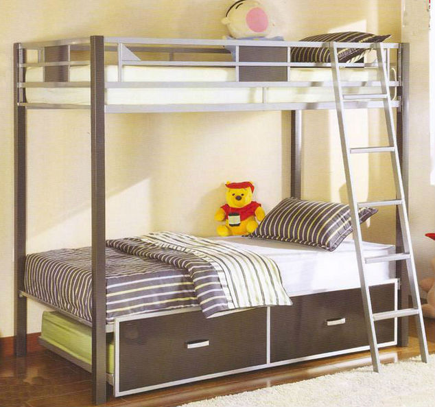Iron Frame 4 People Bunk BedsBig Size 4 People Bunk Beds