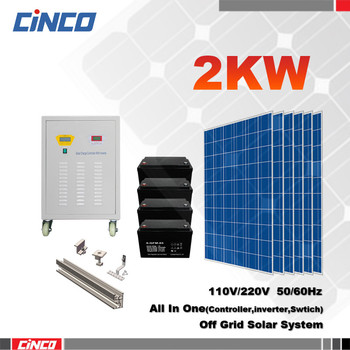 High Quality 2kw Stand Alone Off Grid Solar System With ...