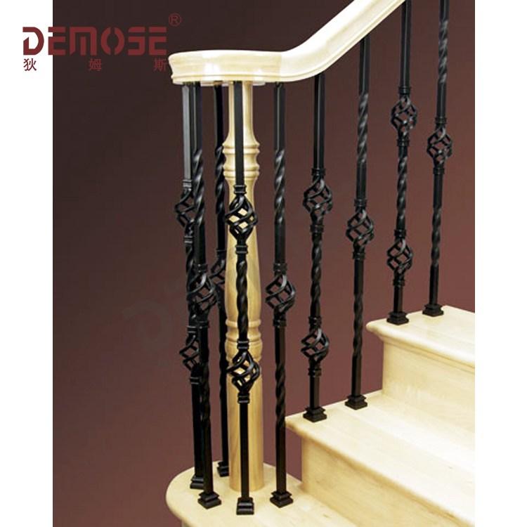 Indoor Stair Railing Iron Stair Balusters Custom Wrought Iron | Stair Rails For Sale | Interior | Steel | Iron Rail | Minimalist | Modern