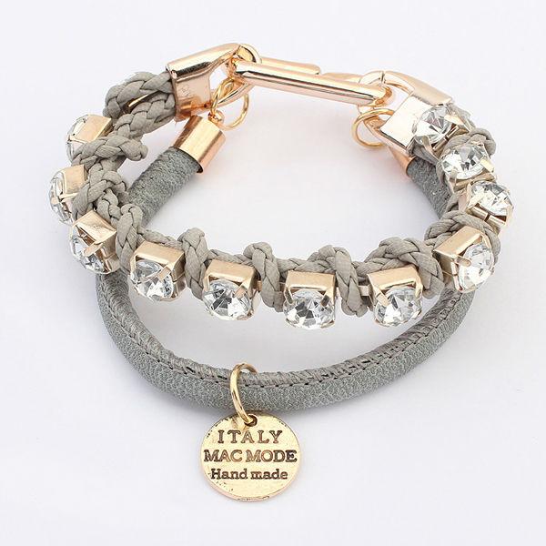 Black Leather Free Sample Fashion Bracelets Hot Jewelry