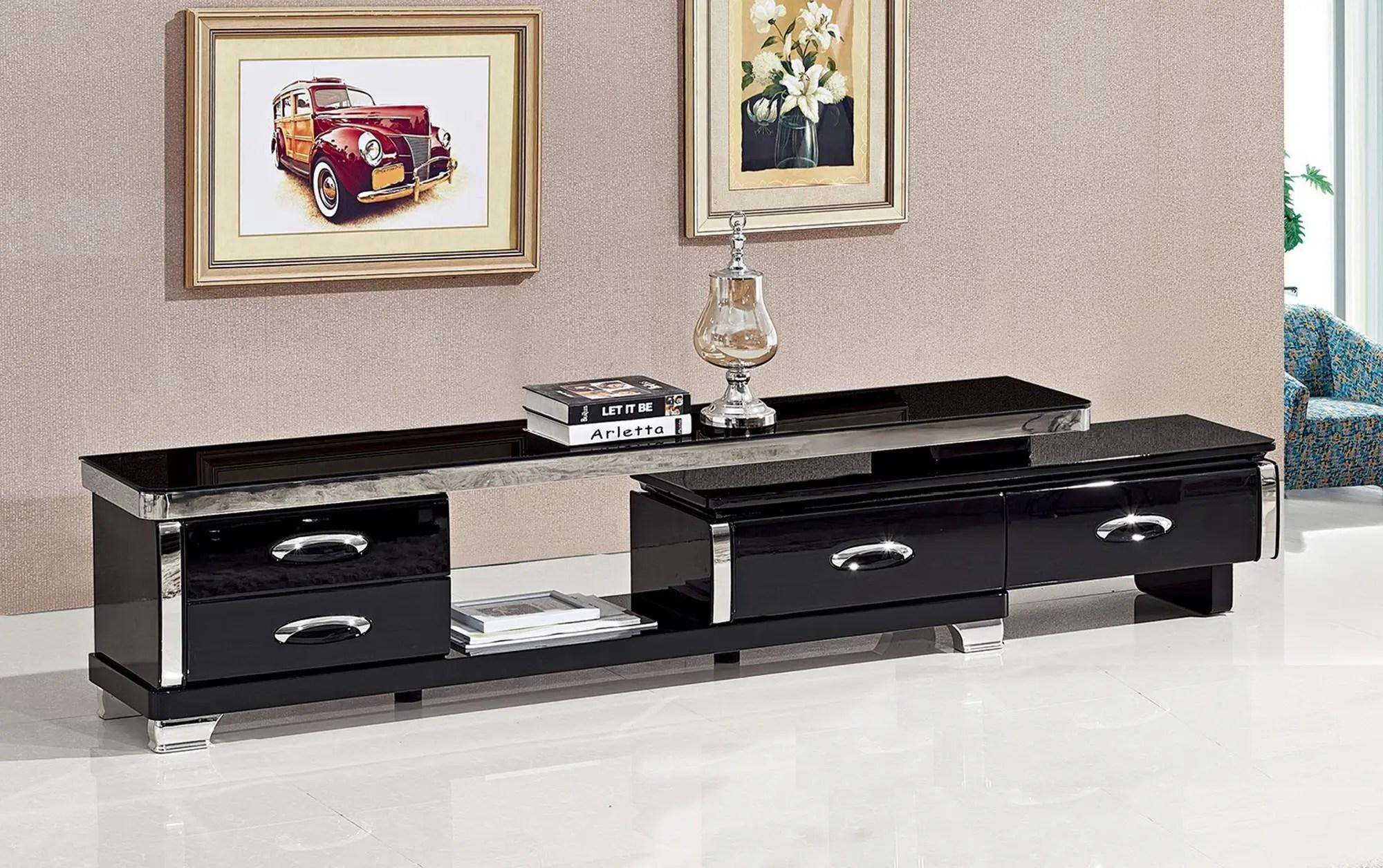 support de table en verre noir avec miroir meuble tv design moderne pour le salon 5 pieces nouveau modele buy living room table tv table stand tv