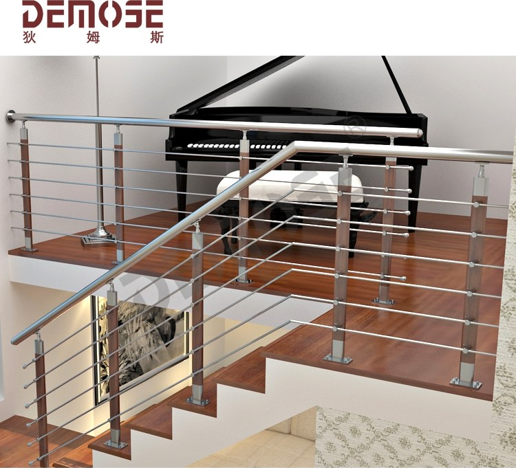 Modern House Galvanized Steel Pipe Stair Handrail For Elderly | Modern Stair Hand Railing | Stainless Steel | Decorative | Creative Outdoor Stair | Glass | Solid Wood
