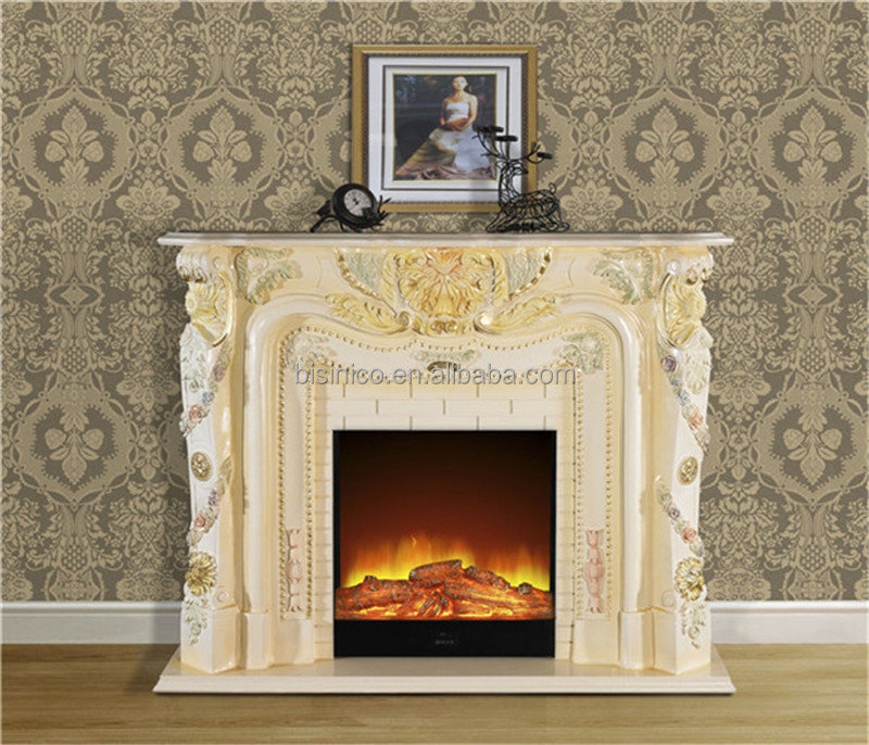 Elegant Rococo Style Mantelpiece FireplaceHand Carved