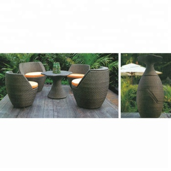 Whole Products Le Stackable Garden Rattan Patio Furniture Set Outdoor Apartment Modern