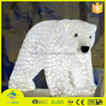 new design top quality polar bear outdoor christmas light animals