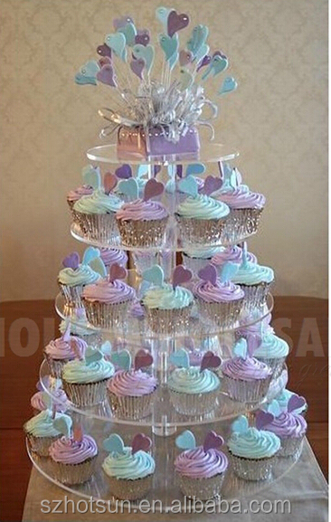 5 Tier Acrylic Cupcake Stand For Weddingbirthday Parties