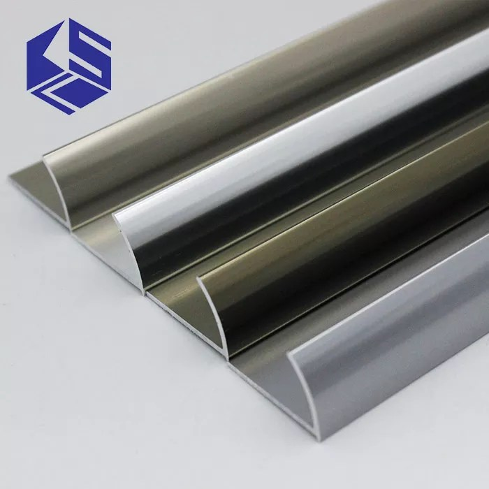 attractive open round aluminium tile edging strip edging metal tile trim buy aluminium tile edging strip tile edging strip metal tile trim product