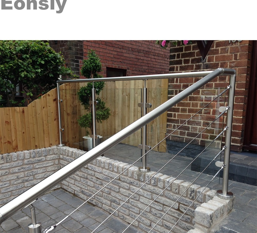 Balustrades Handrails Stainless Steel Handrails For Outdoor | Metal Handrails For Outdoor Steps | Outside | Hand | Backyard | Wood | Contemporary