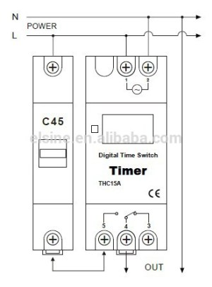 Digital timer switch for street lighting control (AHC15A