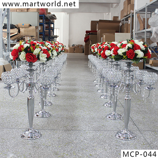 2018 New Silver Crystal Centerpiece Weddings Decoration