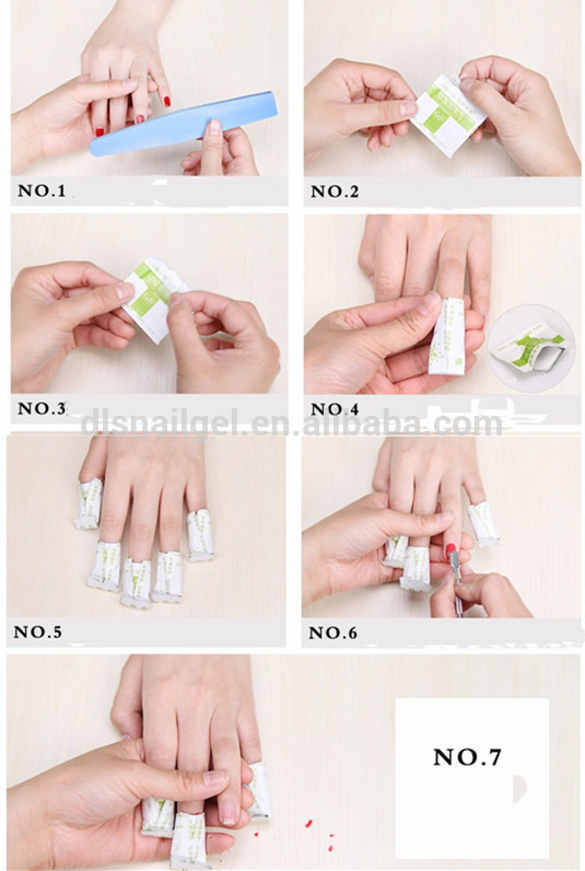 How To Take Off Gel Polish At Home Remove Foil Wraps