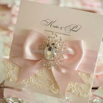 Ivory Vintage Style Lace Wedding Invitation With Box Pearl Invitations Diy Boxed Gift