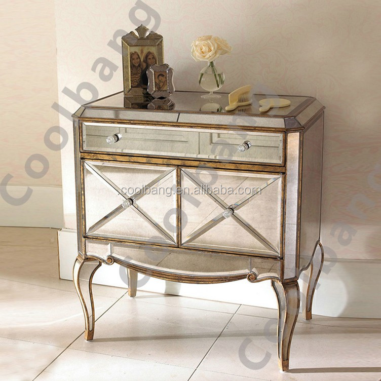 wholesale antique mirrored chest
