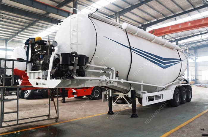 60CBM 3axle tanker trailer cement bulk transport vehicle cement tank cement bulker for uae