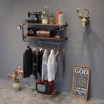 Buy Fafz Wall Mount Storage Shelf Industrial Iron Pipes