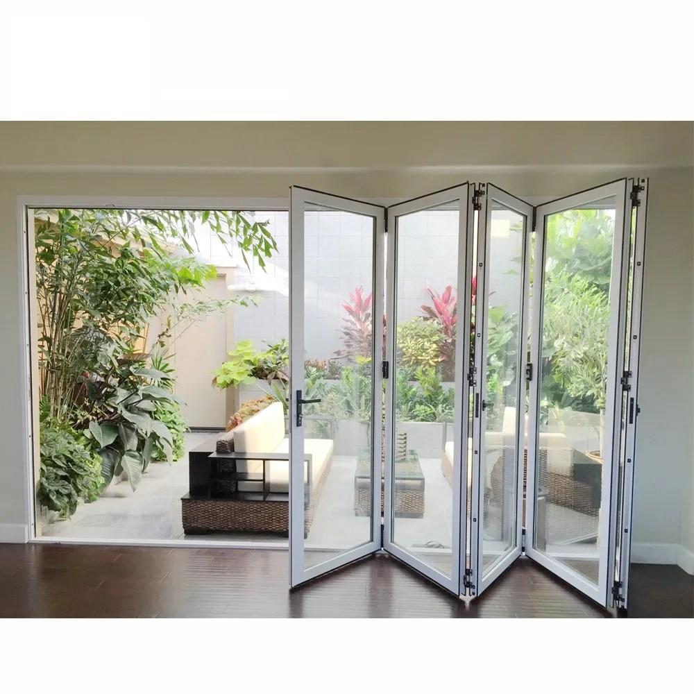 residential exterior french glass doors balcony sliding glass door patio accordion bi fold door view aluminum window cbmmart product details from