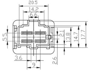 12 volt 4 pin relay toyota foocles relay fls821 12v 40a