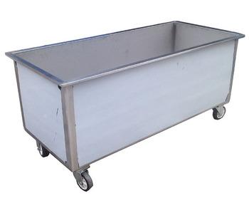 Stainless steel laundry linen soaking trolley - Bak air Stainless di Hotel - Trolley laundry basah