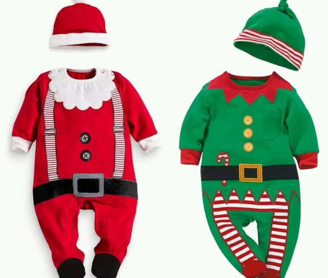 Get Quotations  C B Design Newborn Baby Christmas Clothes Cotton Baby Romper Hat Sets Baby Boys Climbing
