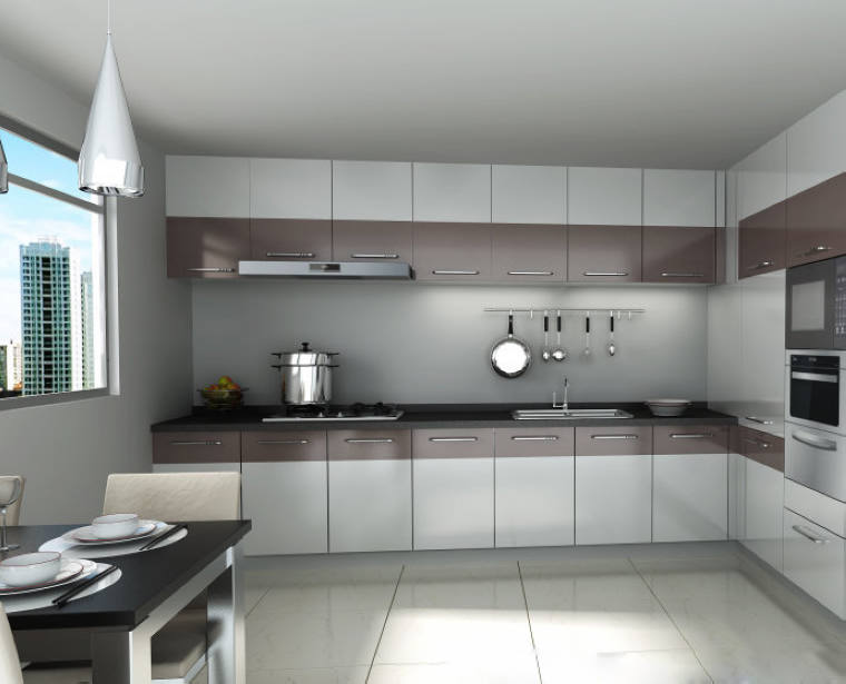 New Model Kitchen Cabinet High Gloss Lacquer Spray For ... on Model Kitchens  id=74267