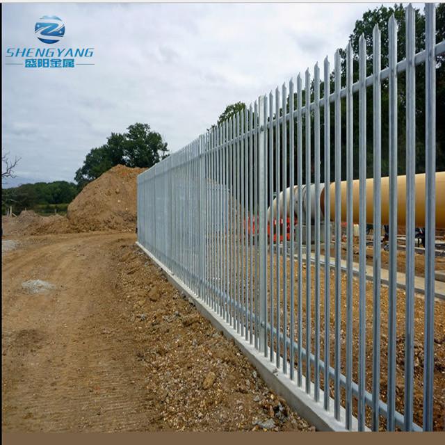 cloture de palissade en acier galvanise 2 4 x m mur a rebond haut section de securite buy cloture de palissade de mur de limite elevee de 2 4