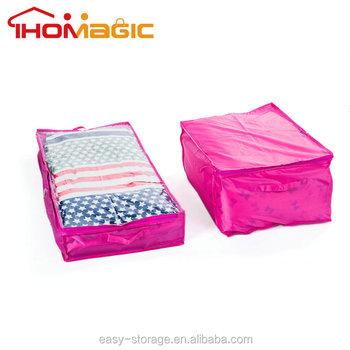 Jumbo Size Underbed Mattress Storage Bag With Zipper Blanket Dust Cover Organizer