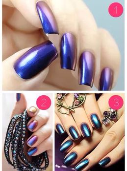 The Most Por Metal Manix Light Gold Navy Blue Nail Art Mirror Dust 8 Colors