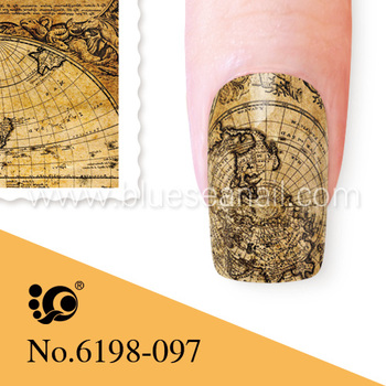 K New Arrival Hot355 357 Fairy Tale World Beauty Nail Stickers For Stencil Art Water Transfer Polish
