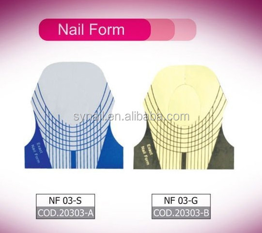 Yimart Nail Art Guide Form For Acrylic Uv Gel Tips Extension Gold Forms
