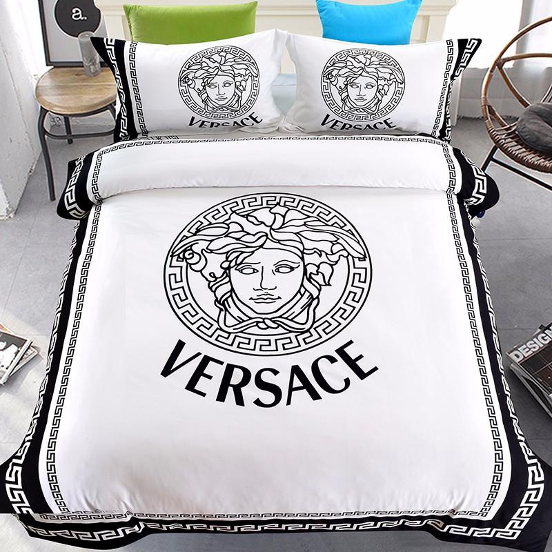 parure de lit style haut de gamme 100 coton avec drap housse de couette literie de marque celebre buy ensemble de literie drap de lit housse de