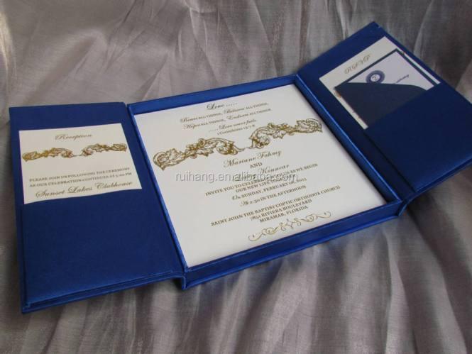 Silk Wedding Invitation Box