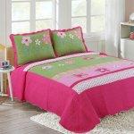 Buy Hnnsi Girls Flower Kids Quilt Bedspread Set Queen Size 3pcs 100 Cotton Girls Comforter Kids Bedding Sets Kids Girls Bed Sheet Sets Queen Pink Floral In Cheap Price On Alibaba Com