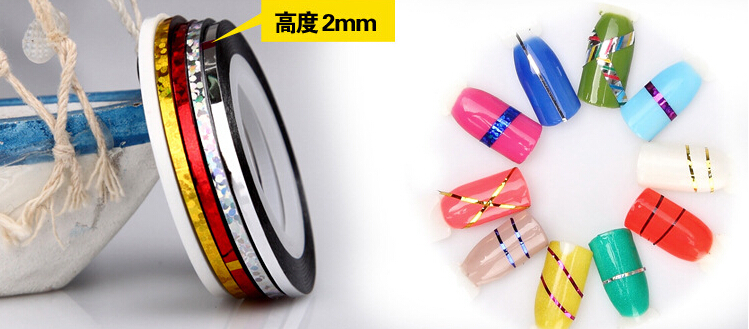 2mm 3mm Widen Out Nail Art Stripping Tape Broaden With 34